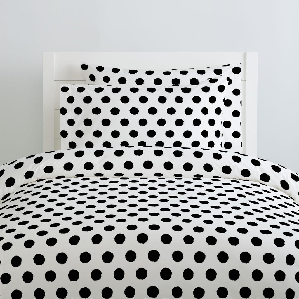 Product image for Onyx Brush Dots Duvet Cover