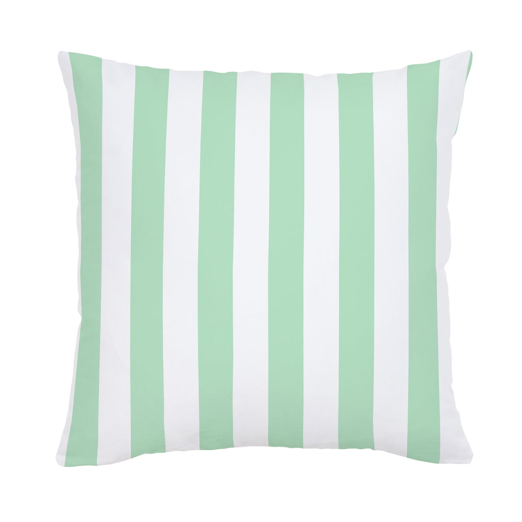 Product image for Mint Stripe Throw Pillow