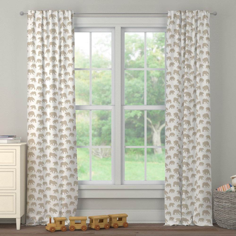 Product image for Taupe Bears Drape Panel