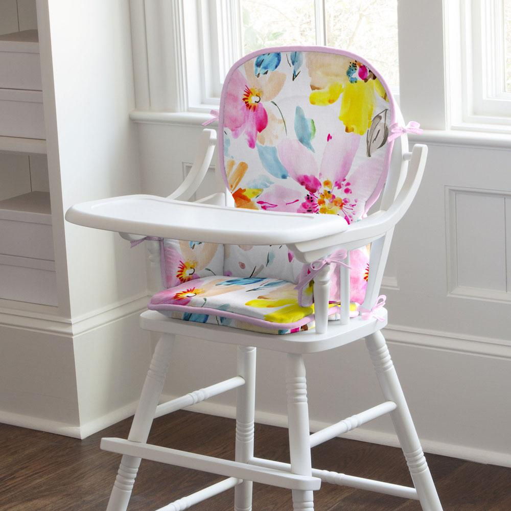 Product image for Watercolor Floral High Chair Pad