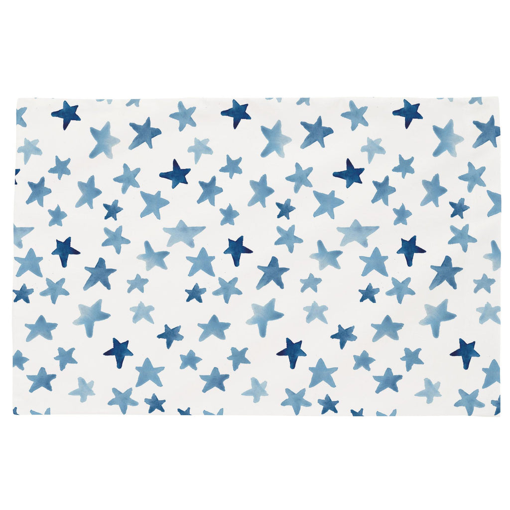 Product image for Blue Watercolor Stars Toddler Pillow Case