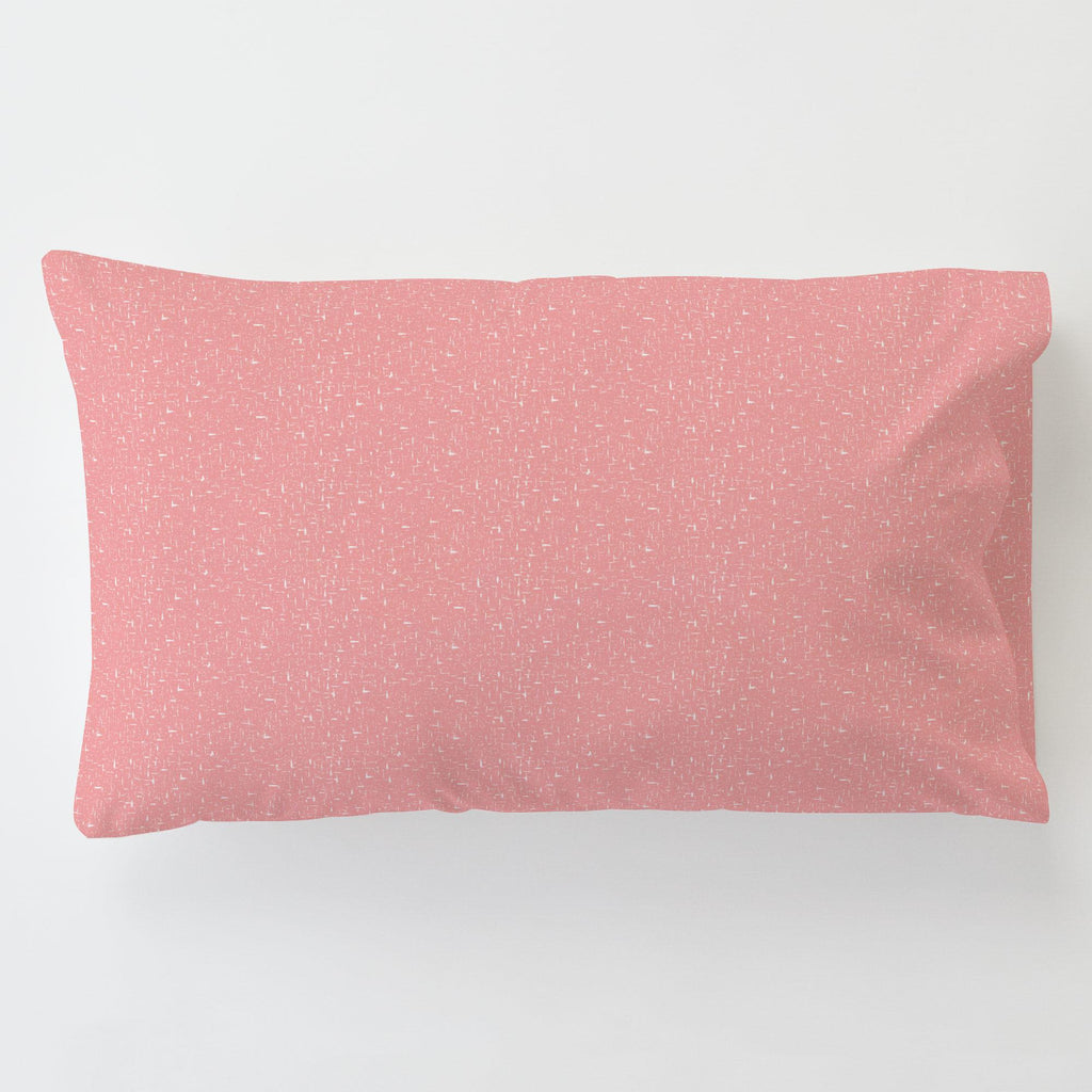 Product image for Coral Pink Heather Toddler Pillow Case with Pillow Insert