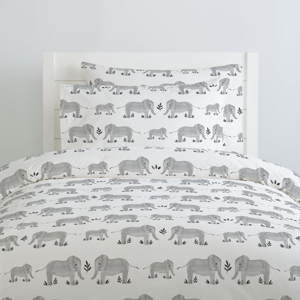 Product image for Gray Painted Elephants Duvet Cover