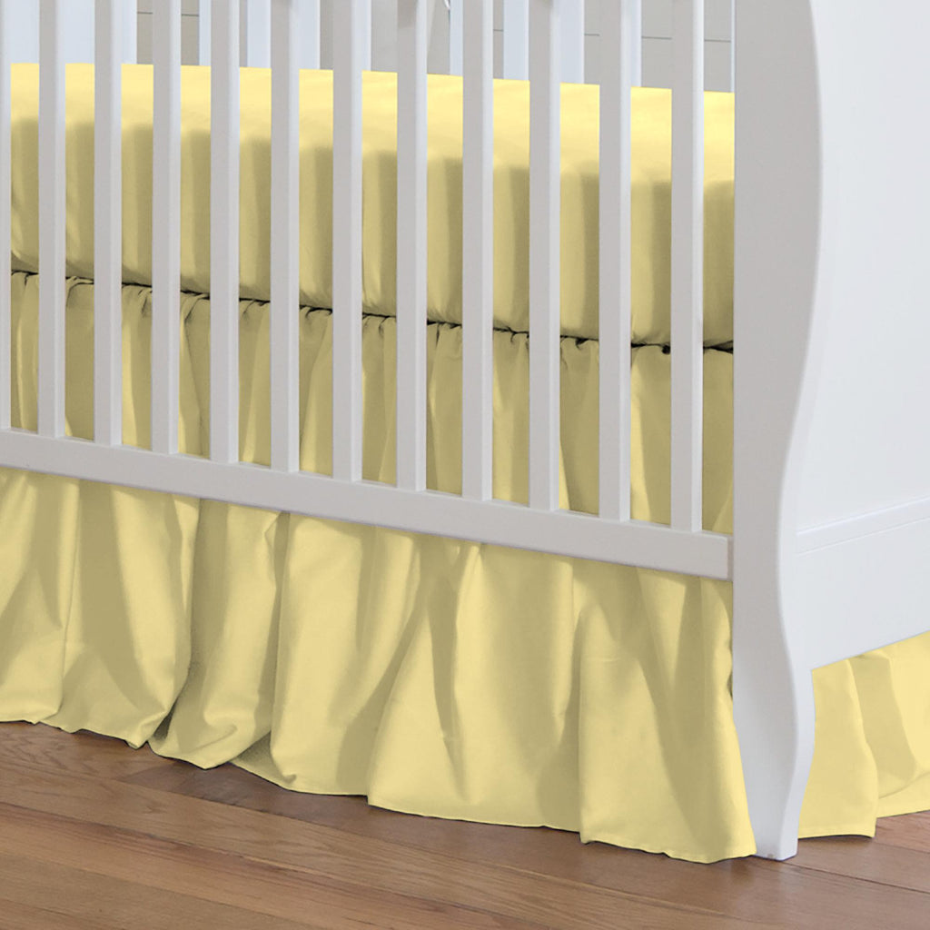 Product image for Solid Banana Crib Skirt Gathered