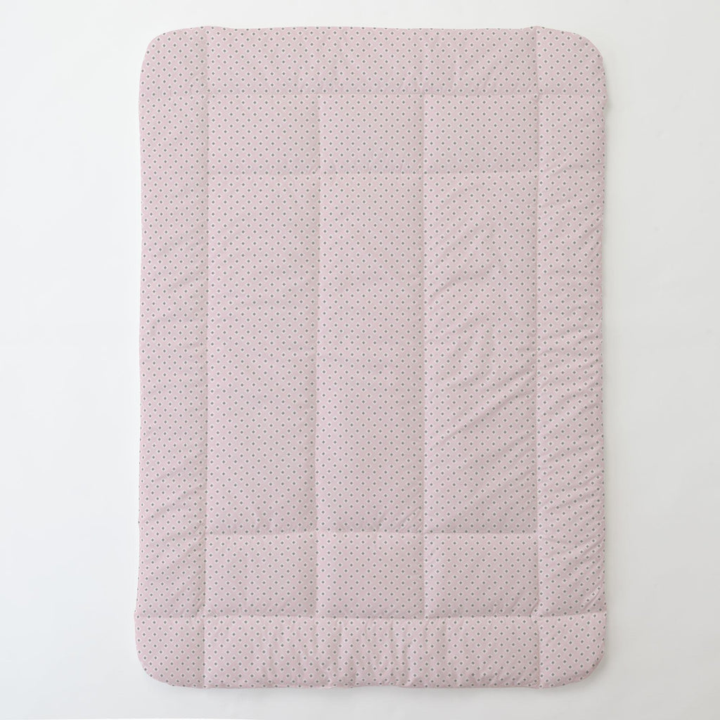 Product image for Pink and Gray Diamond Toddler Comforter