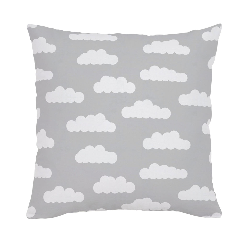 Product image for Silver Gray and White Clouds Throw Pillow