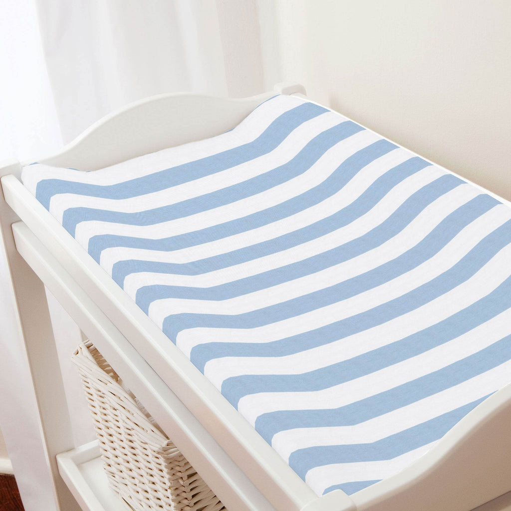 Product image for Blue Giddy Stripe Changing Pad Cover
