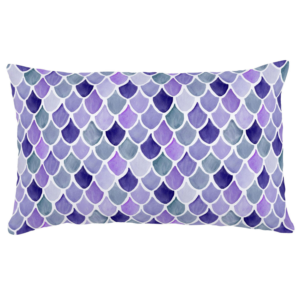 Product image for Lilac Watercolor Scales Lumbar Pillow