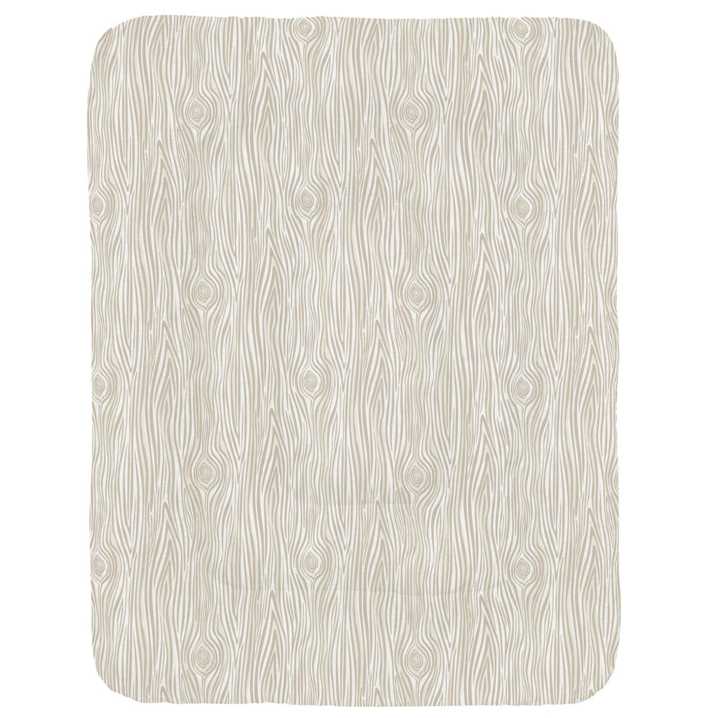 Product image for Taupe Woodgrain Crib Comforter