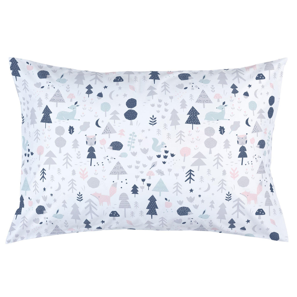 Product image for Gray and Pink Baby Woodland Pillow Case