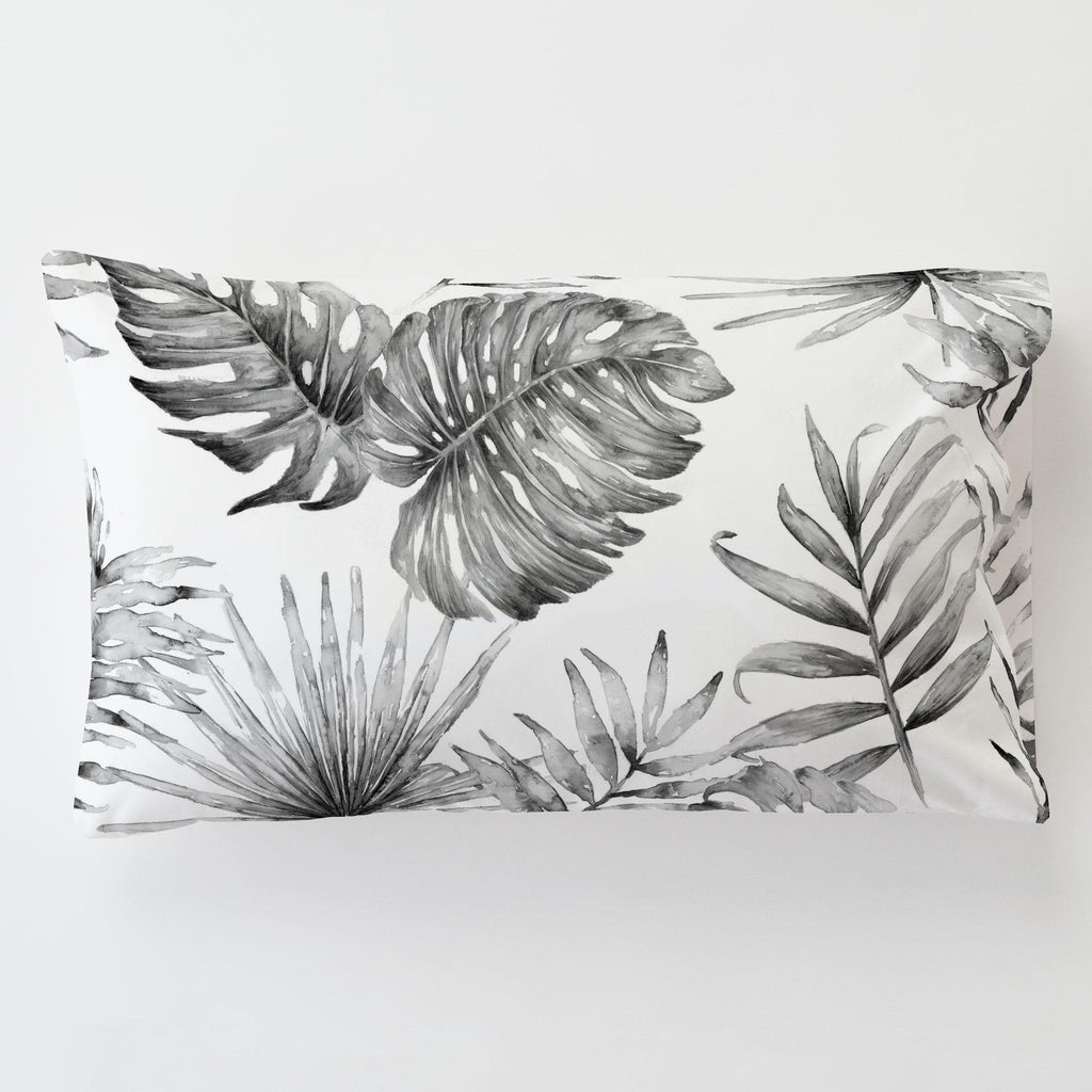 Product image for Gray Painted Tropical Toddler Pillow Case with Pillow Insert