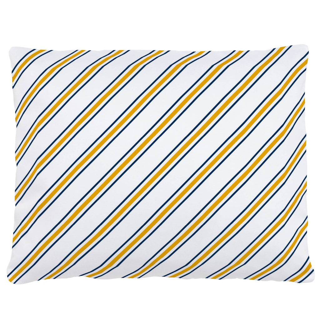 Product image for Navy and Yellow Necktie Stripe Accent Pillow