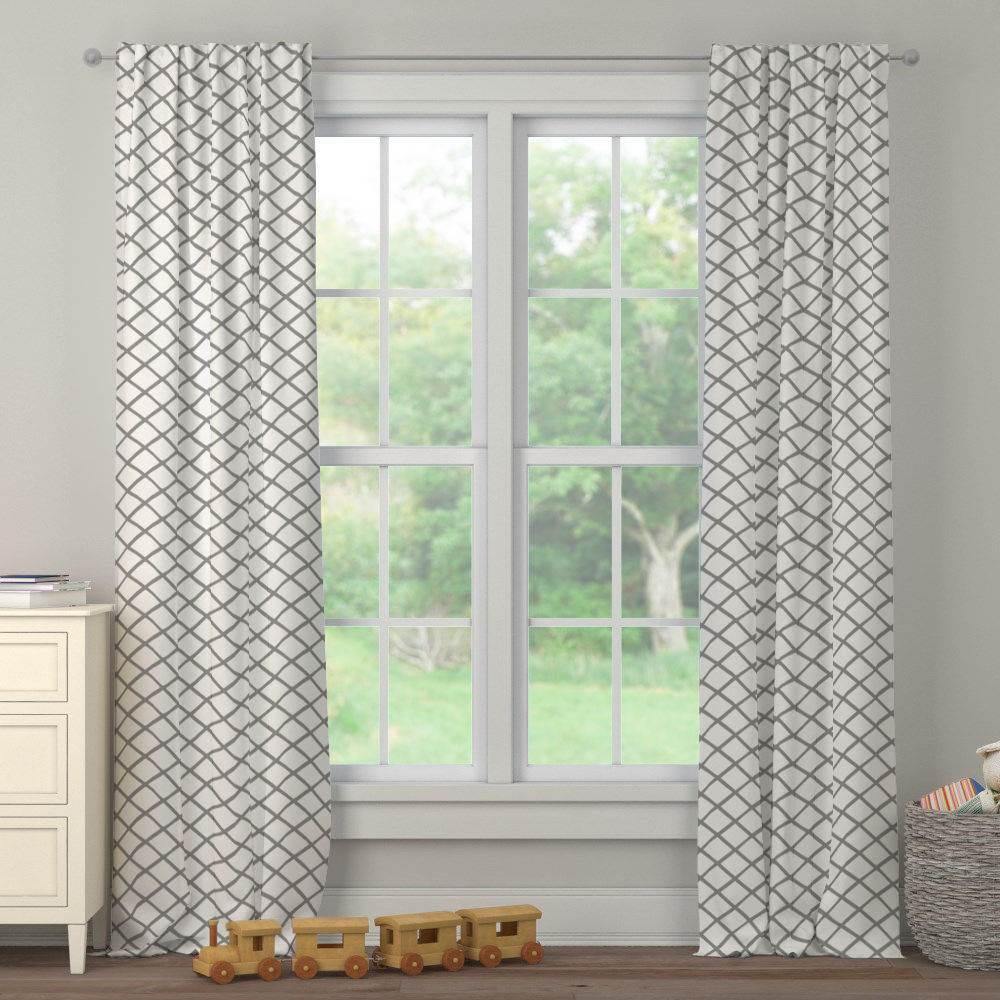 Product image for Cloud Gray Trellis Drape Panel