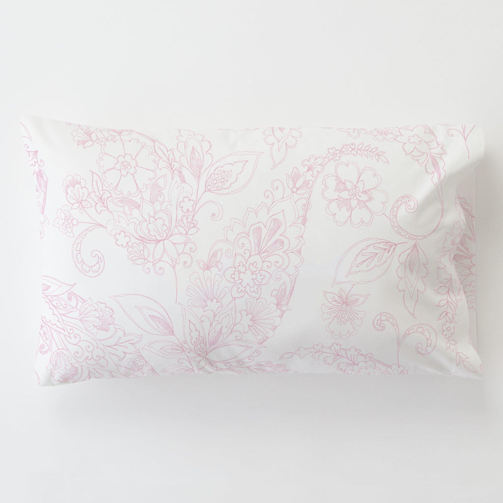 Product image for Bubblegum Sketchbook Floral Toddler Pillow Case with Pillow Insert