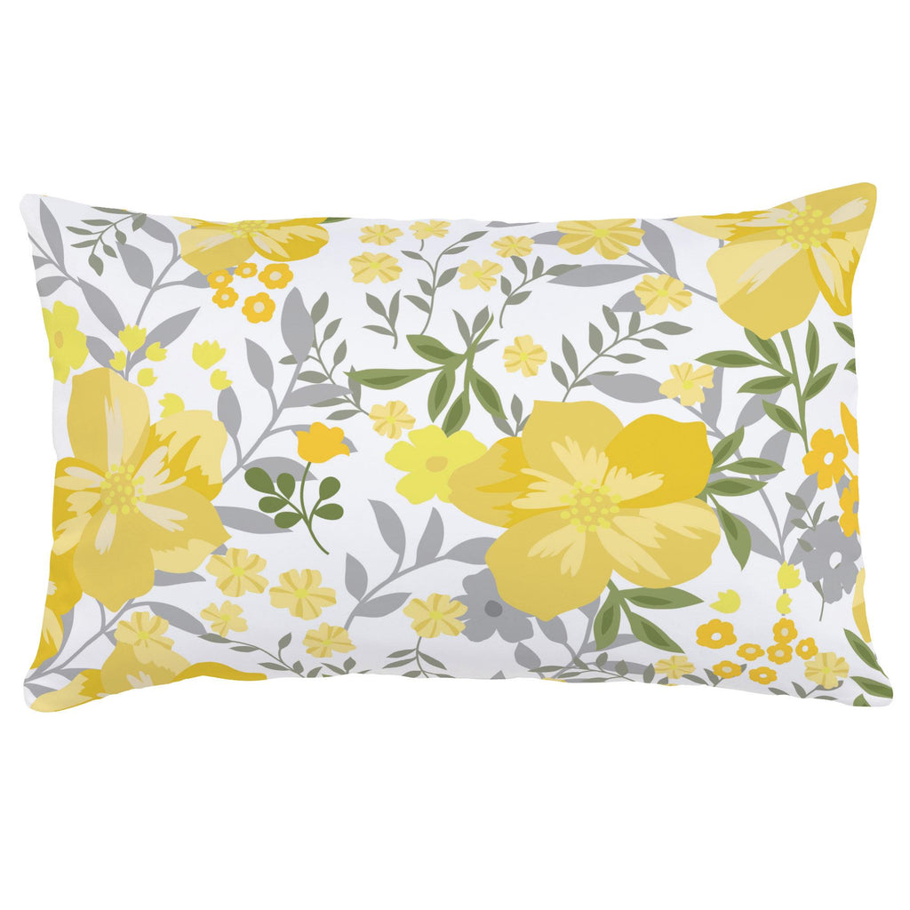 Product image for Yellow Floral Tropic Lumbar Pillow
