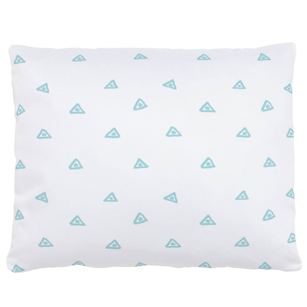 Product image for Seafoam Aqua Triangle Dots Accent Pillow