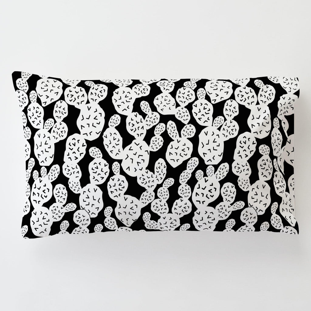 Product image for Onyx Prickly Pear Toddler Pillow Case with Pillow Insert