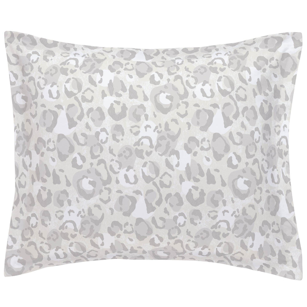 Product image for French Gray Leopard Pillow Sham