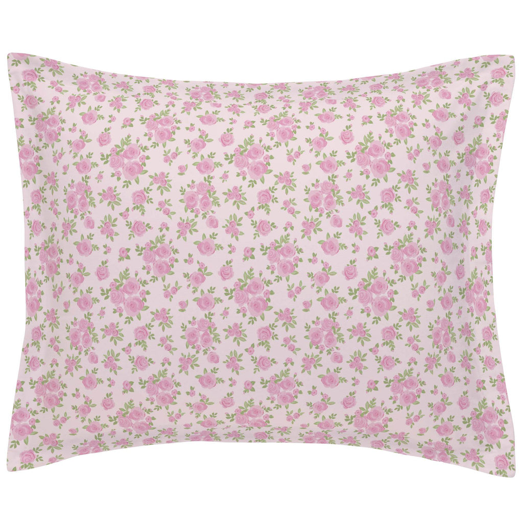 Product image for Pink Rosettes Pillow Sham
