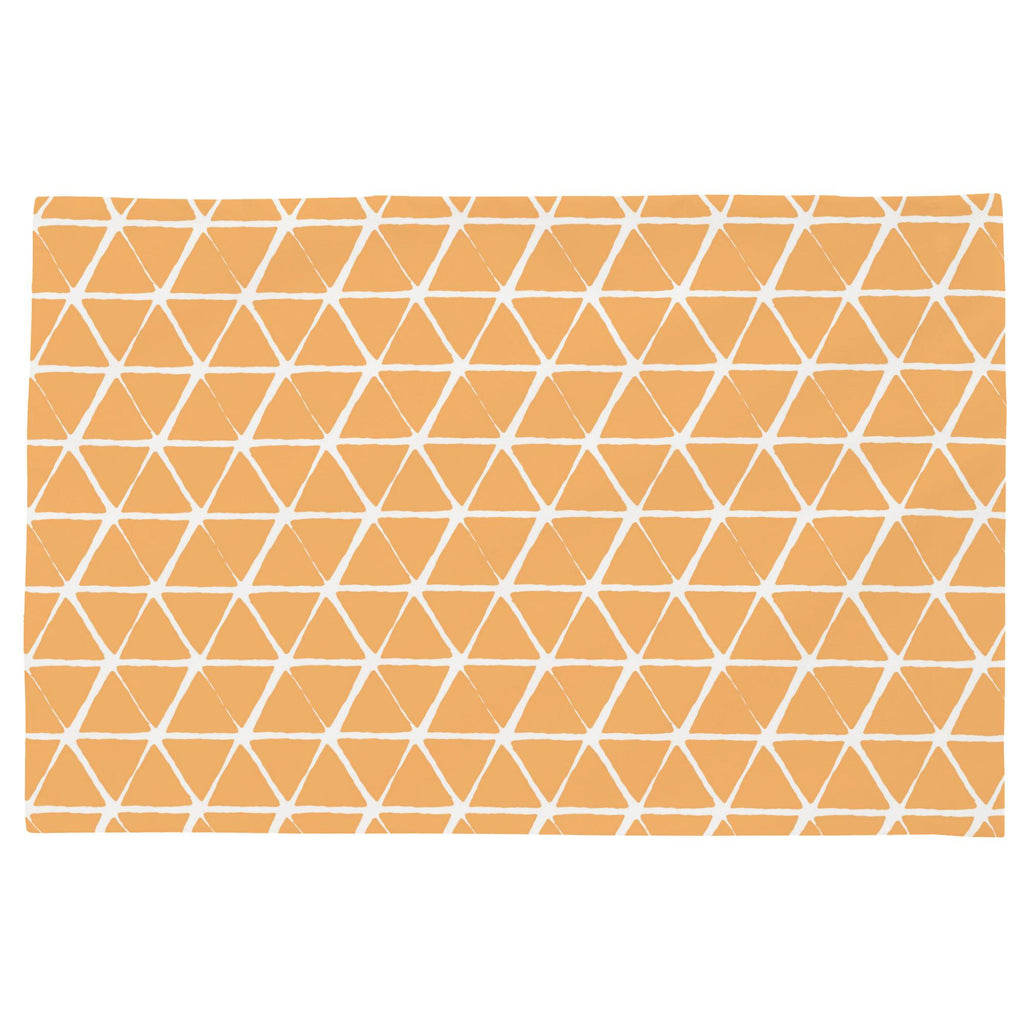 Product image for Light Orange Aztec Triangles Toddler Pillow Case