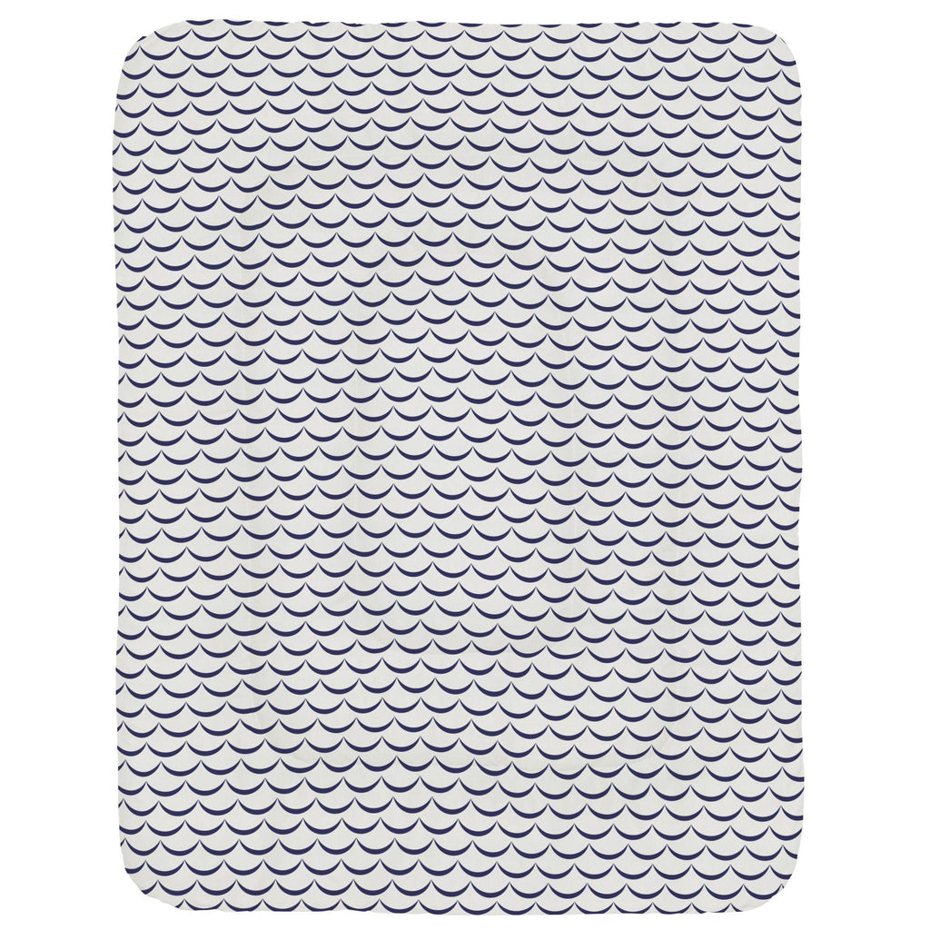 Product image for White and Navy Waves Crib Comforter