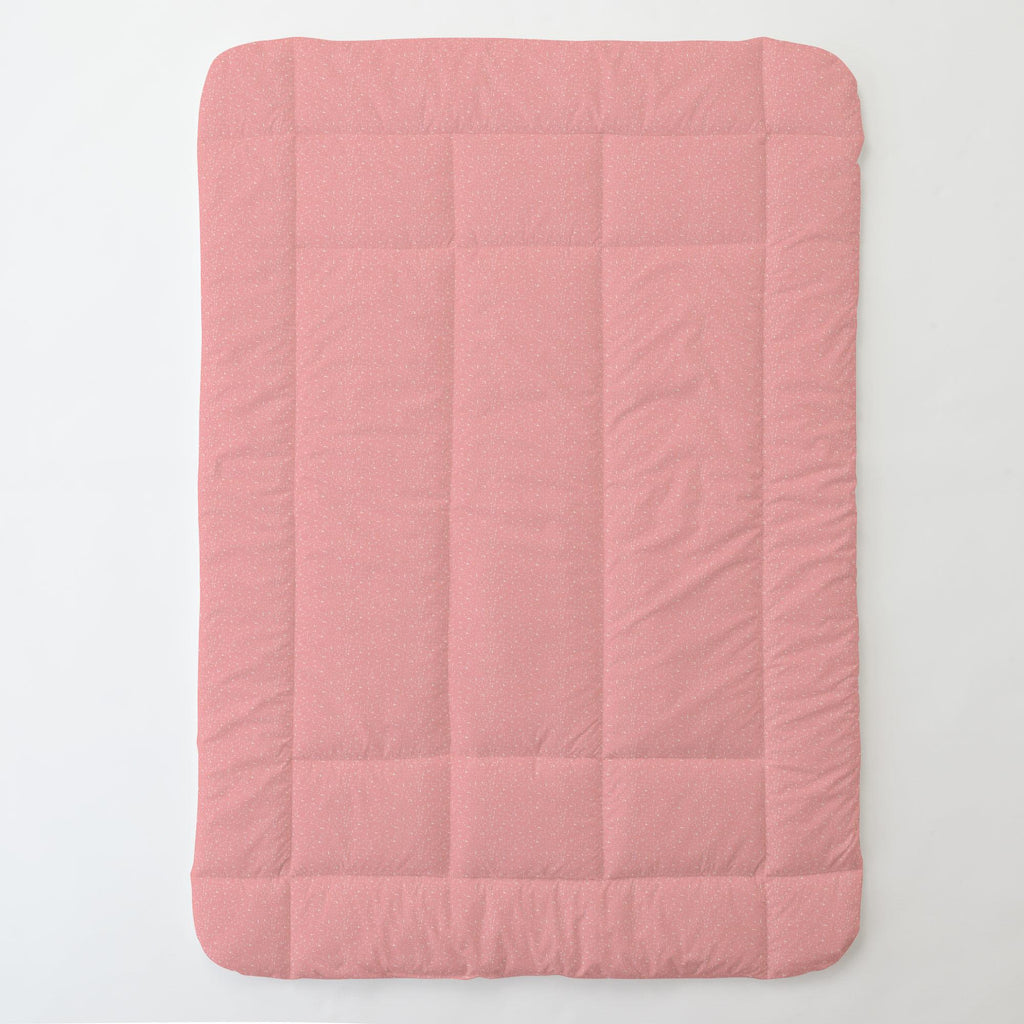 Product image for Coral Pink Heather Toddler Comforter