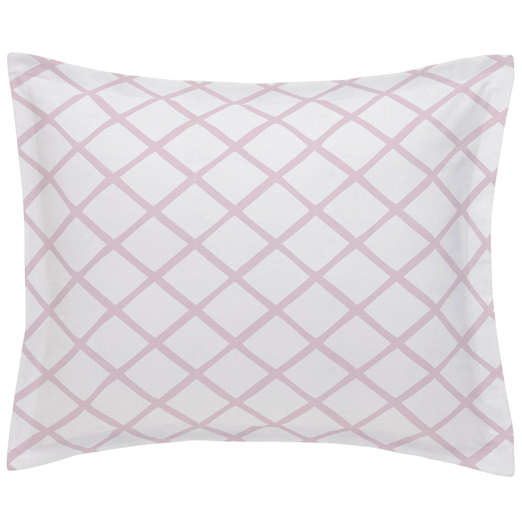 Product image for Pink Trellis Pillow Sham