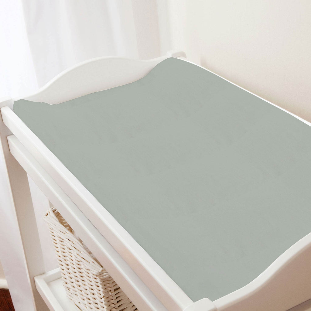 Product image for Solid Cloud Gray Changing Pad Cover