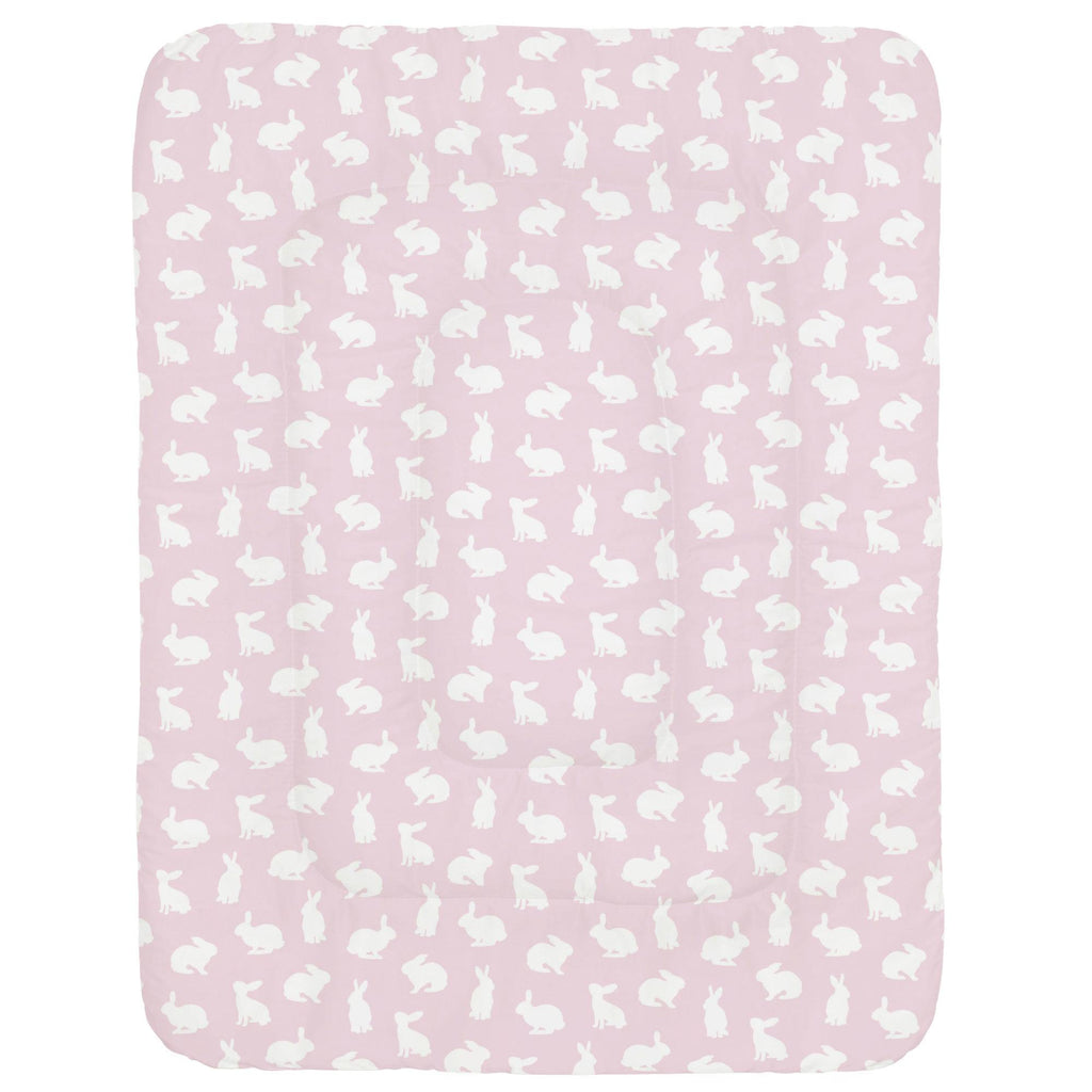 Product image for Pink and White Bunnies Crib Comforter