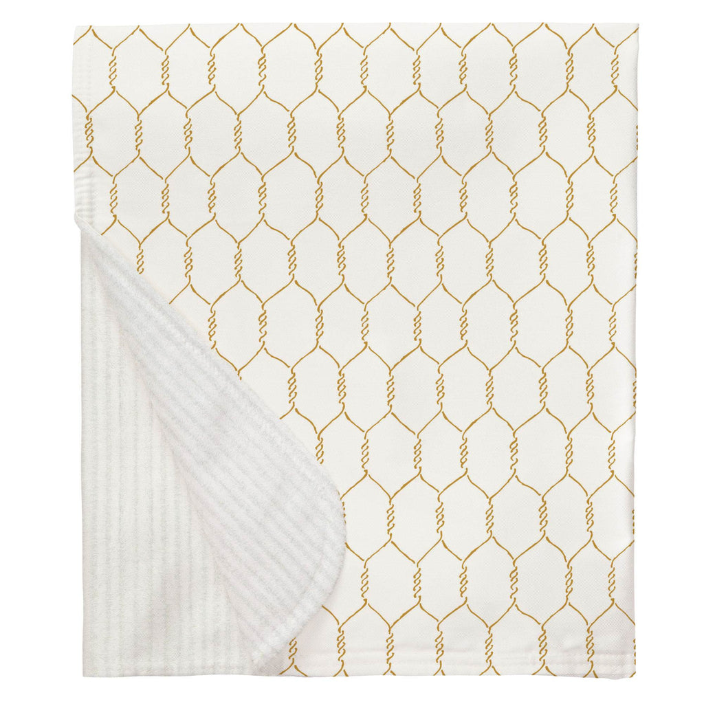 Product image for Mustard Farmhouse Wire Baby Blanket