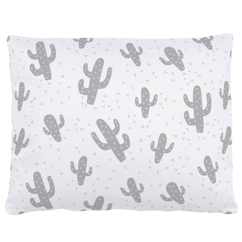Product image for Silver Gray Cactus Accent Pillow