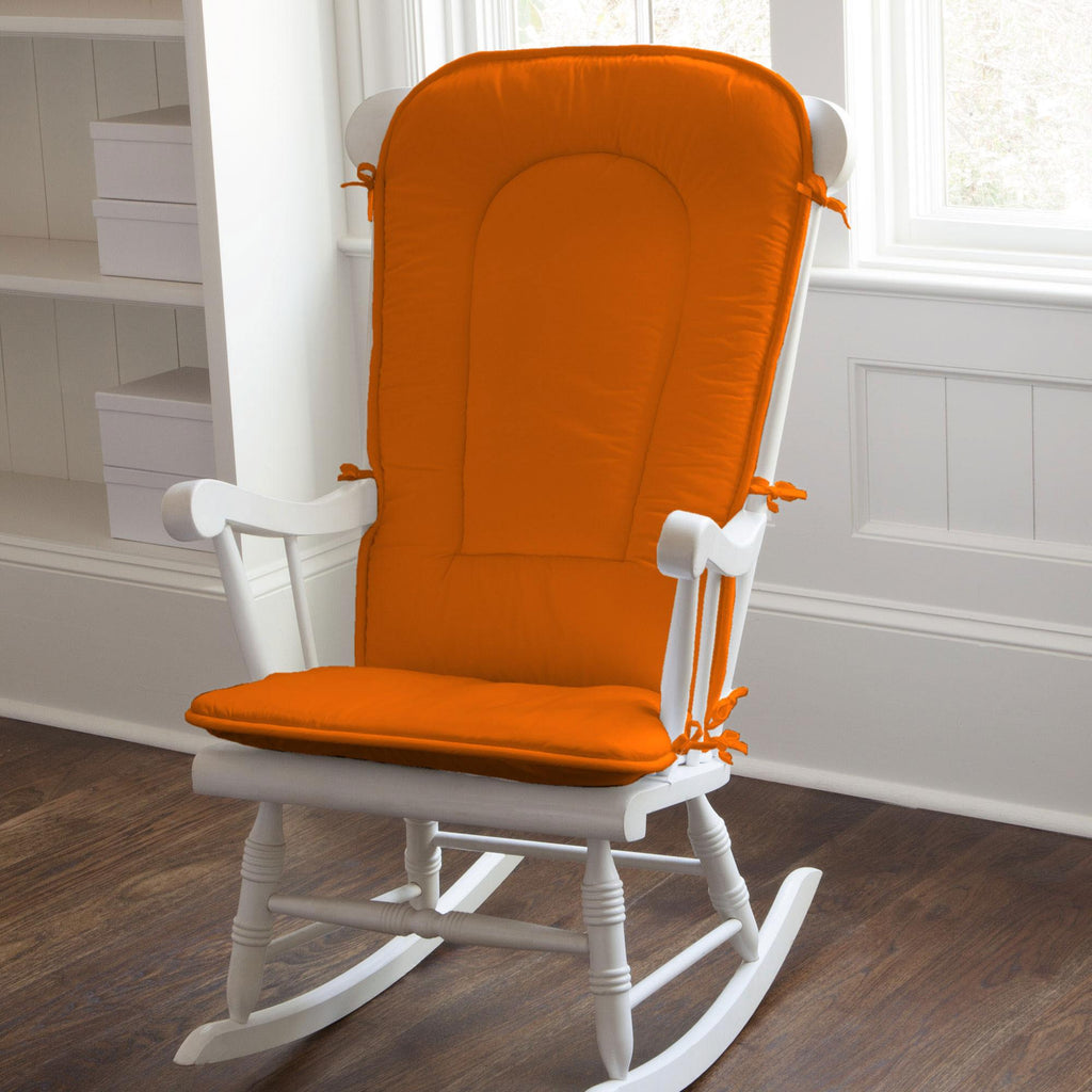 Product image for Solid Orange Rocking Chair Pad