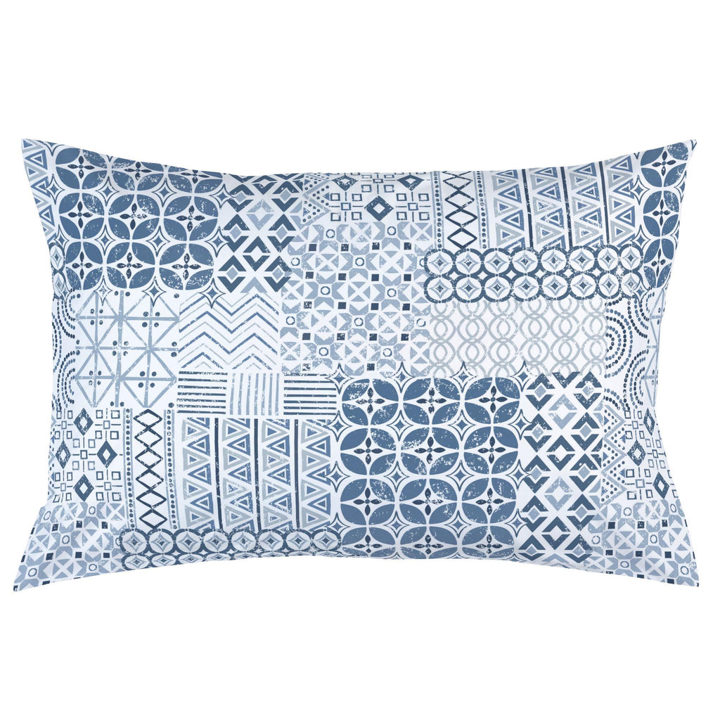 Product image for Denim Patchwork Pillow Case