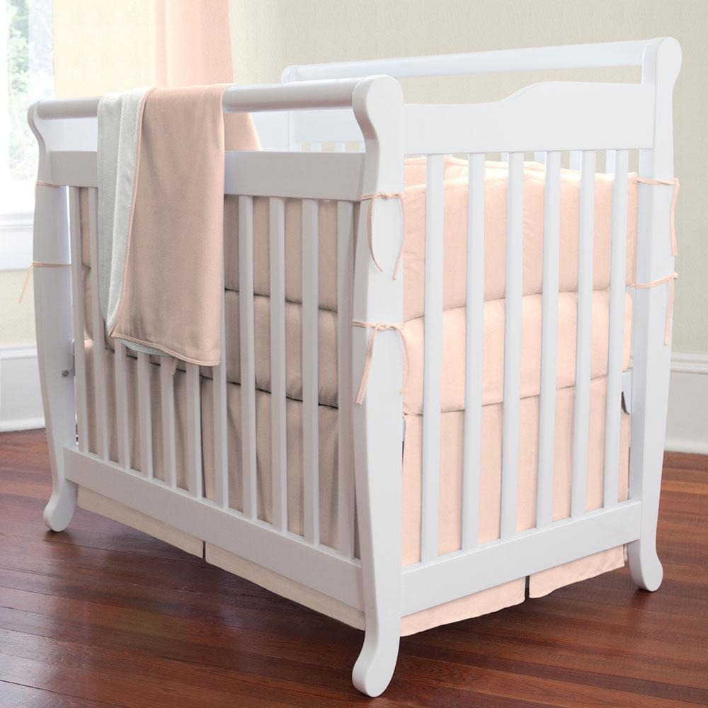 Product image for Solid Peach Mini Crib Skirt