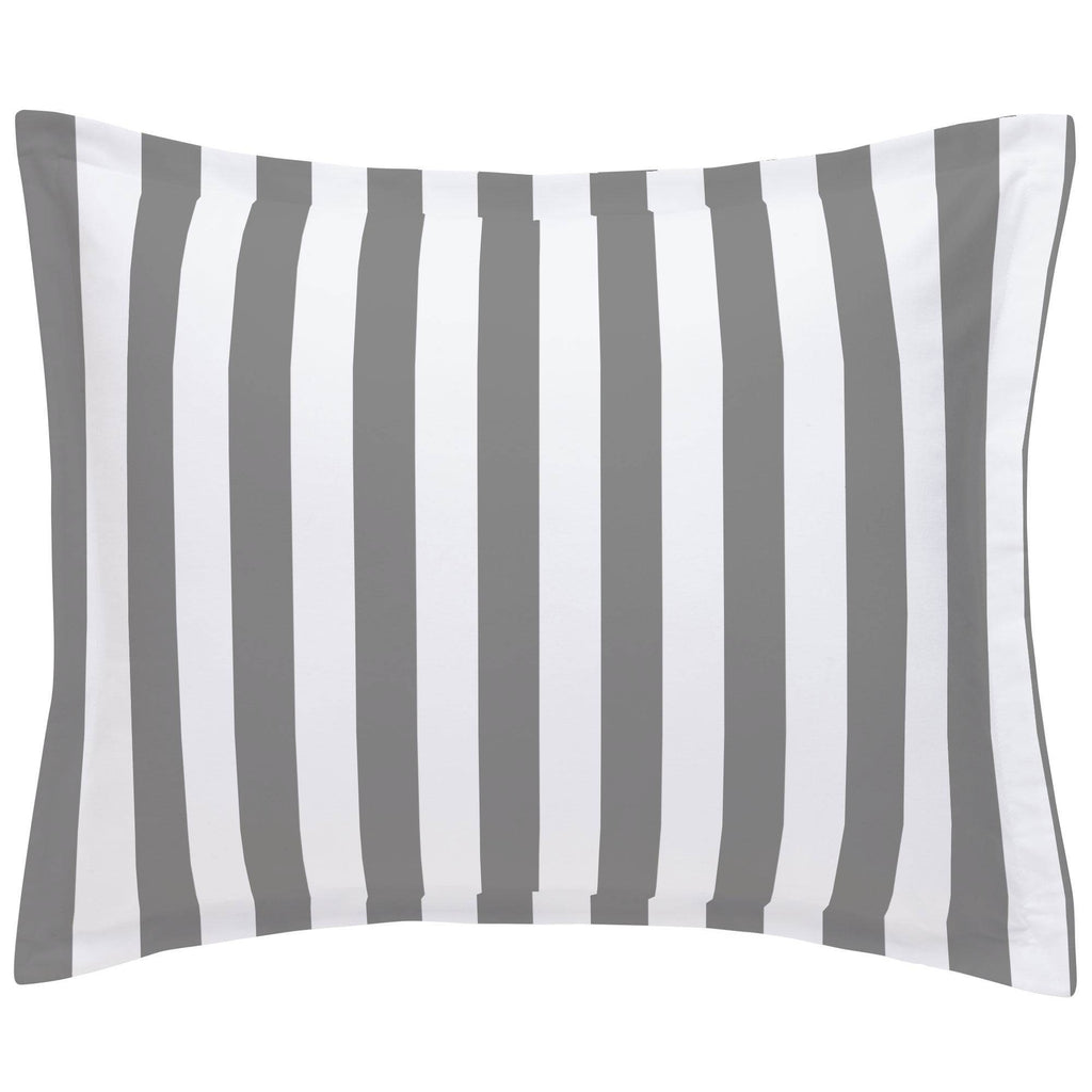Product image for White and Gray Stripe Pillow Sham
