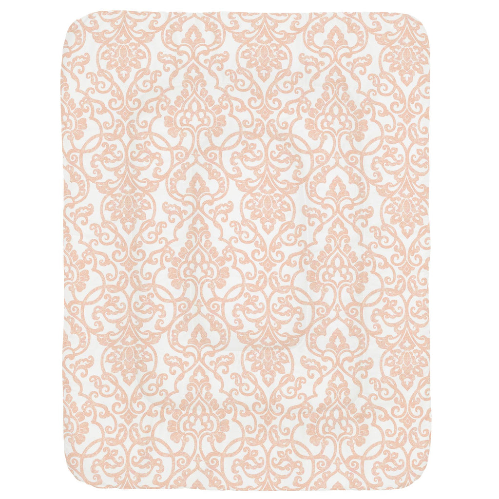 Product image for Peach Filigree Crib Comforter
