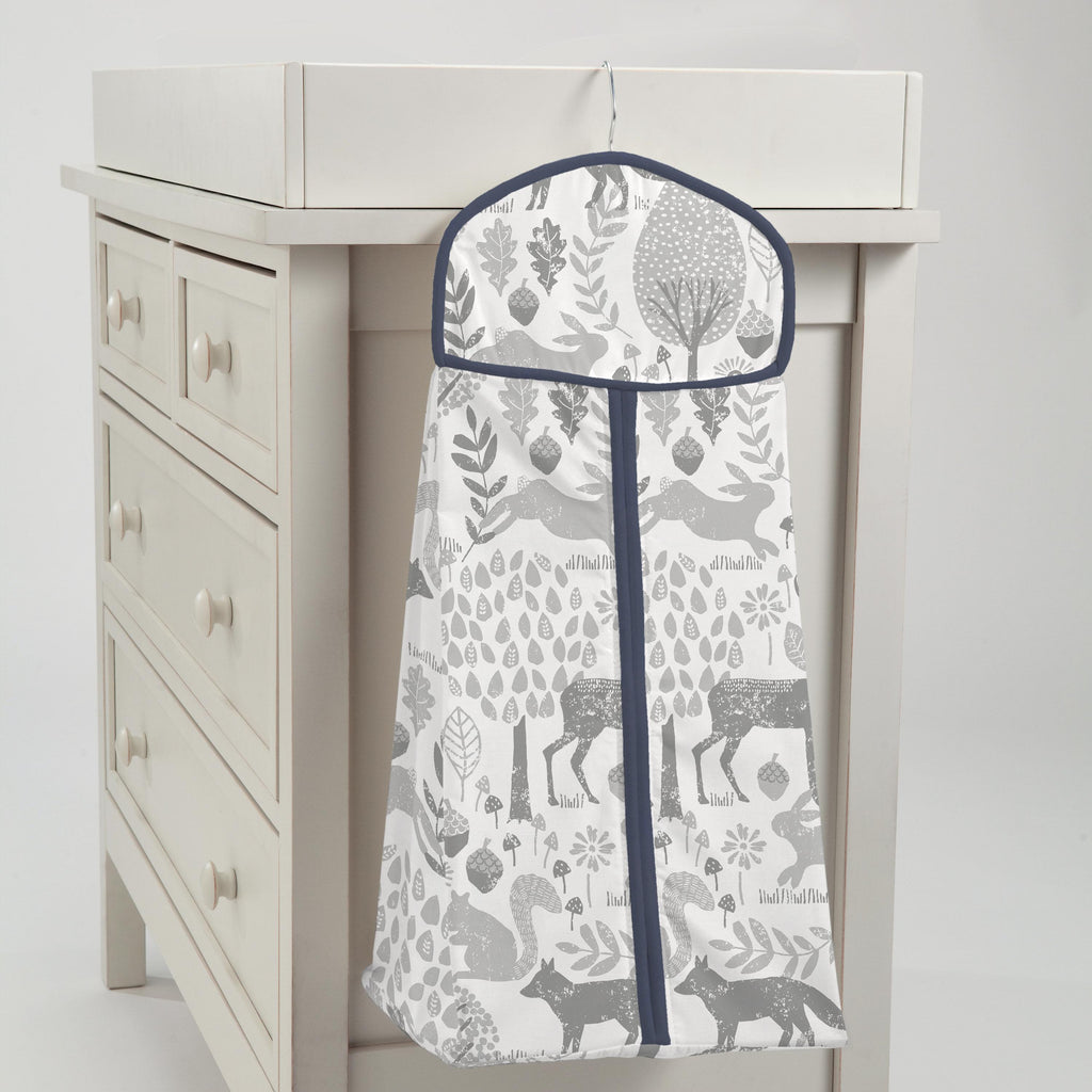 Product image for Gray Woodland Animals Diaper Stacker