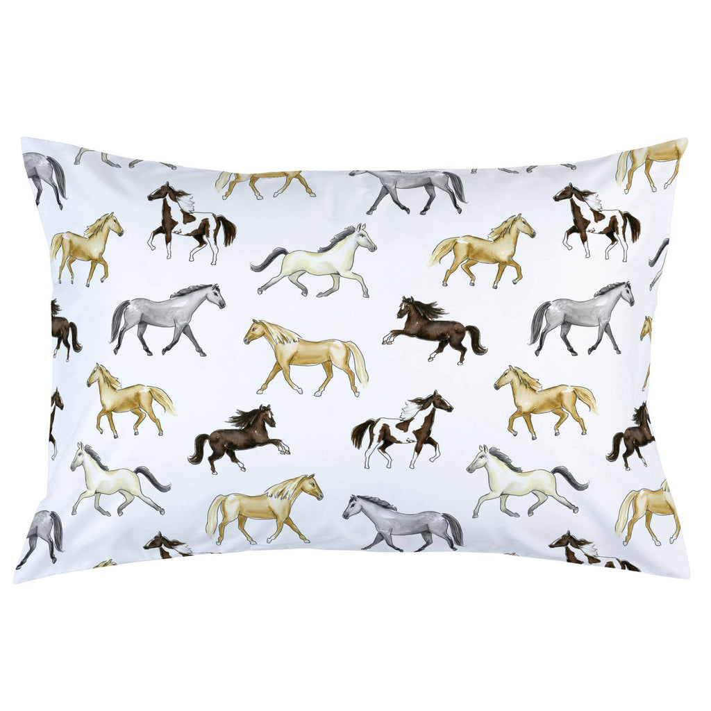Product image for Watercolor Horses Pillow Case