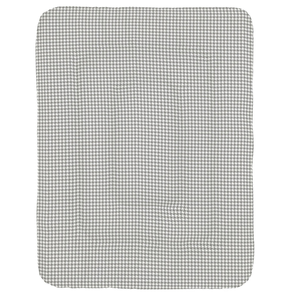 Product image for Cloud Gray and White Houndstooth Crib Comforter