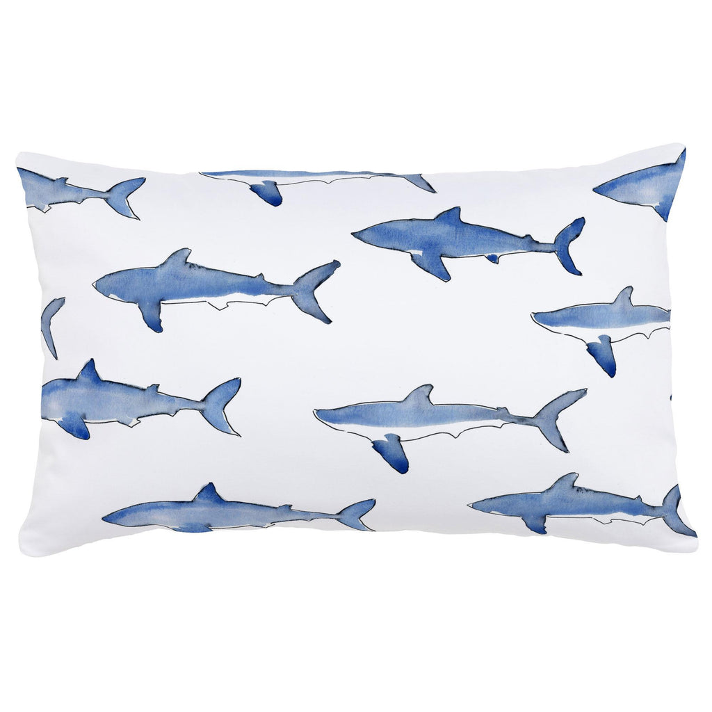 Product image for Blue Sharks Lumbar Pillow