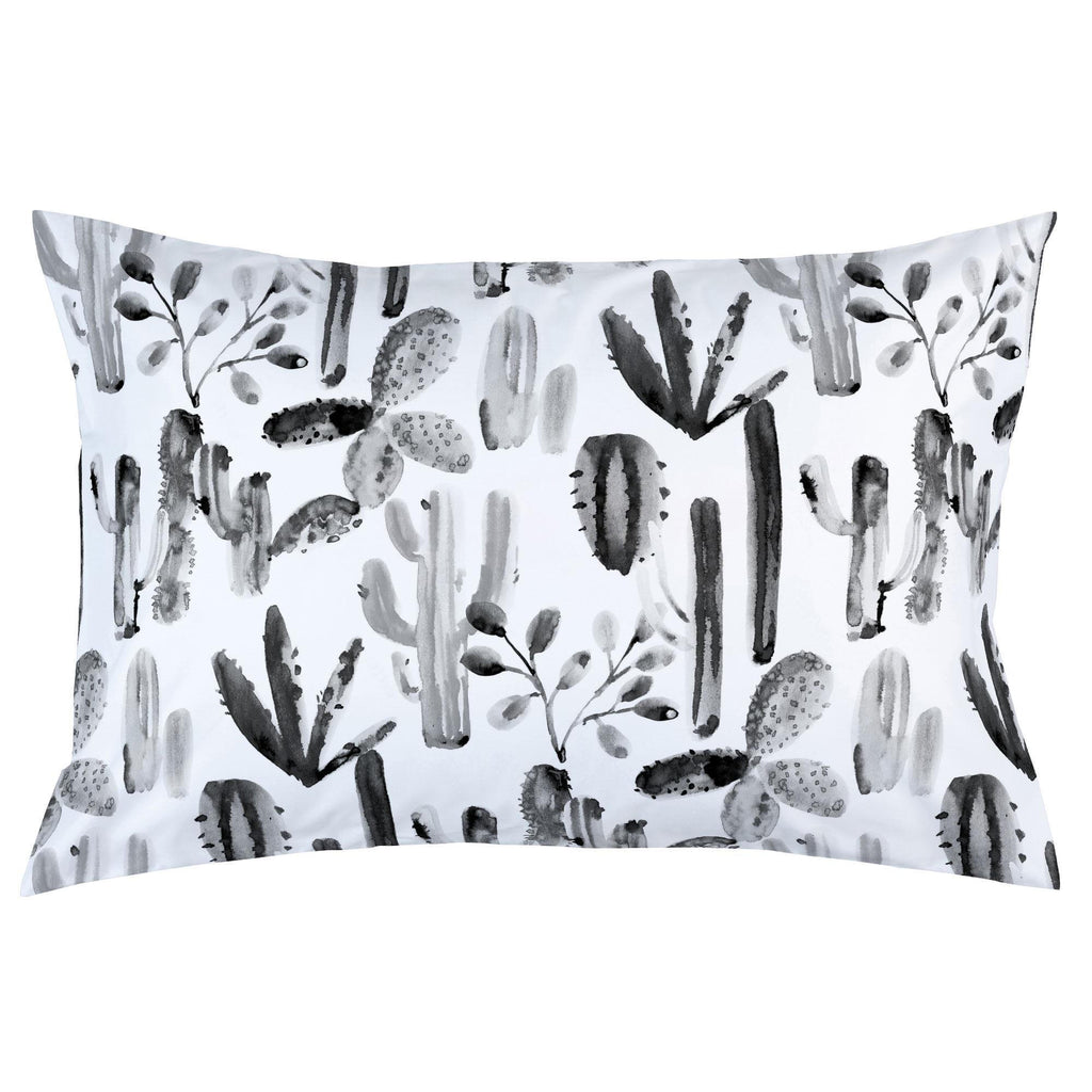 Product image for Charcoal Painted Cactus Pillow Case