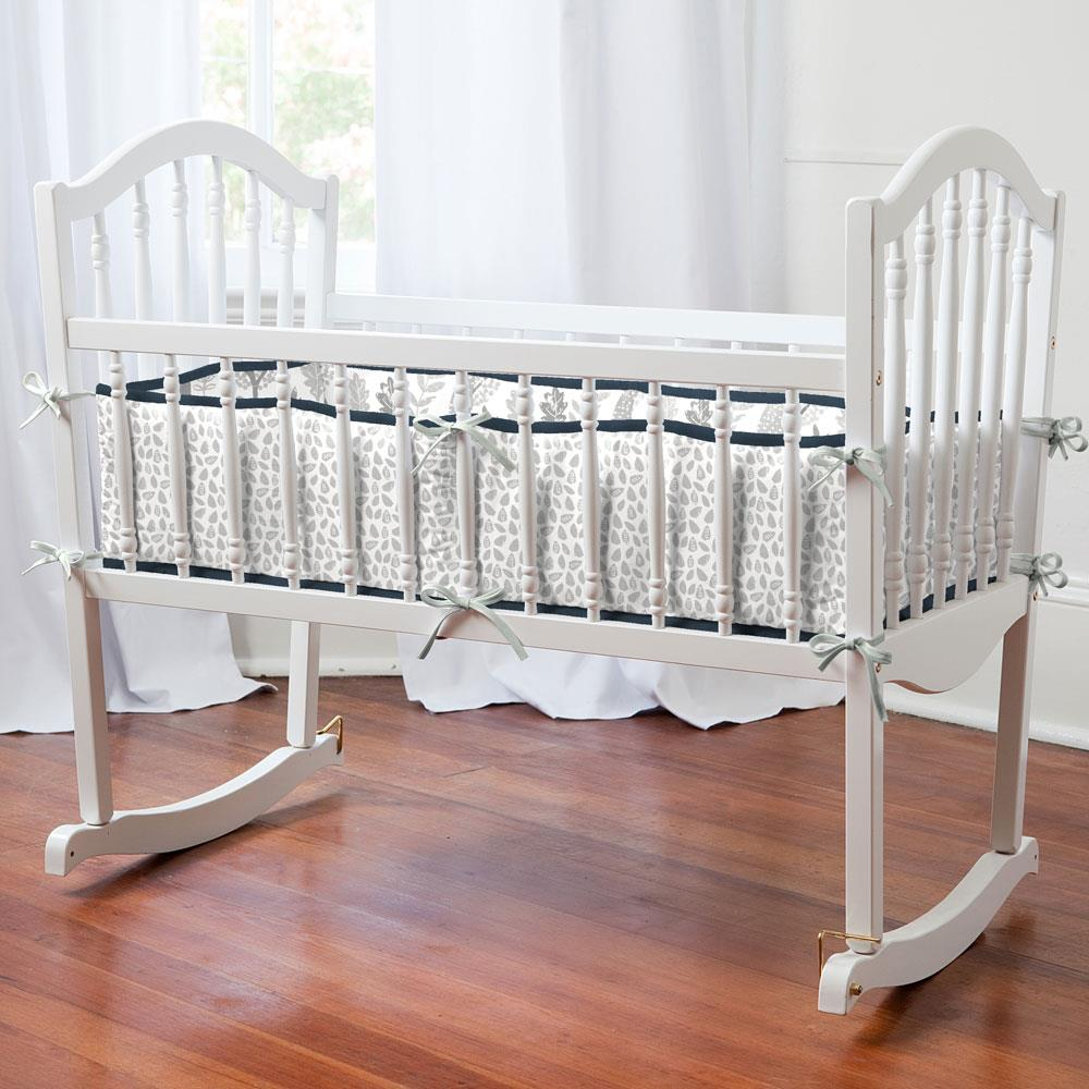 Product image for Gray Woodland Animals Cradle Bumper