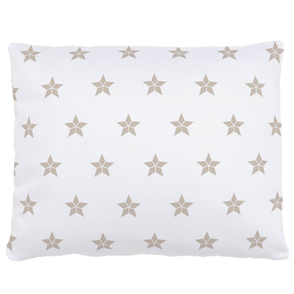 Product image for Taupe Mosaic Stars Accent Pillow
