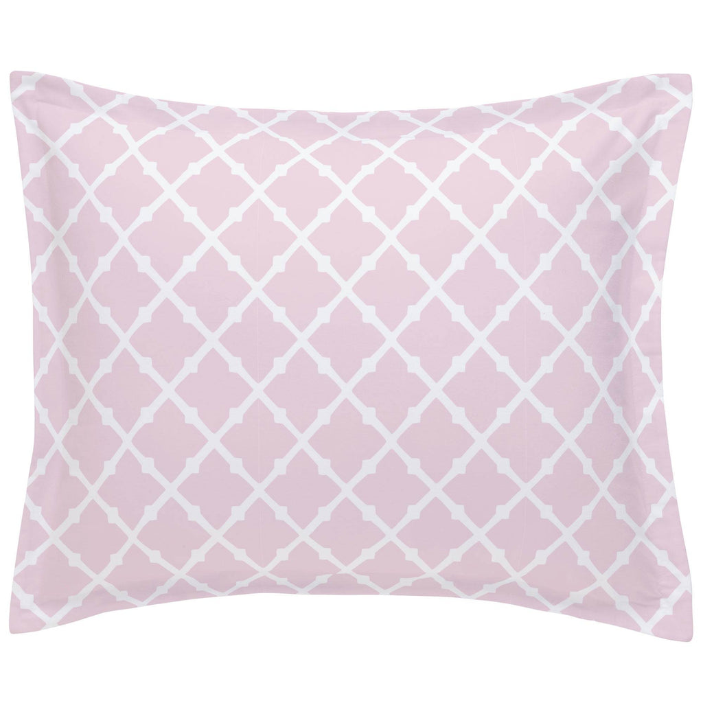 Product image for Pink Lattice Pillow Sham