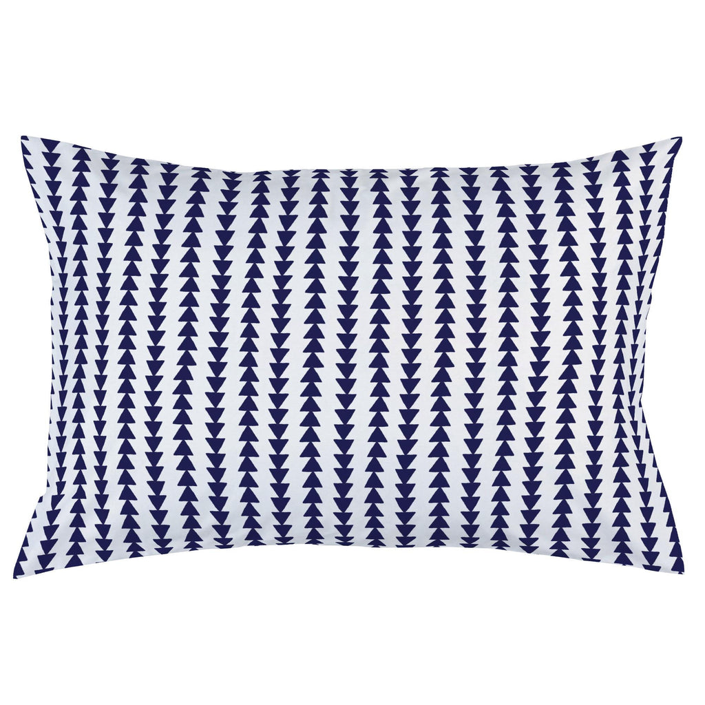 Product image for Windsor Navy Arrow Stripe Pillow Case
