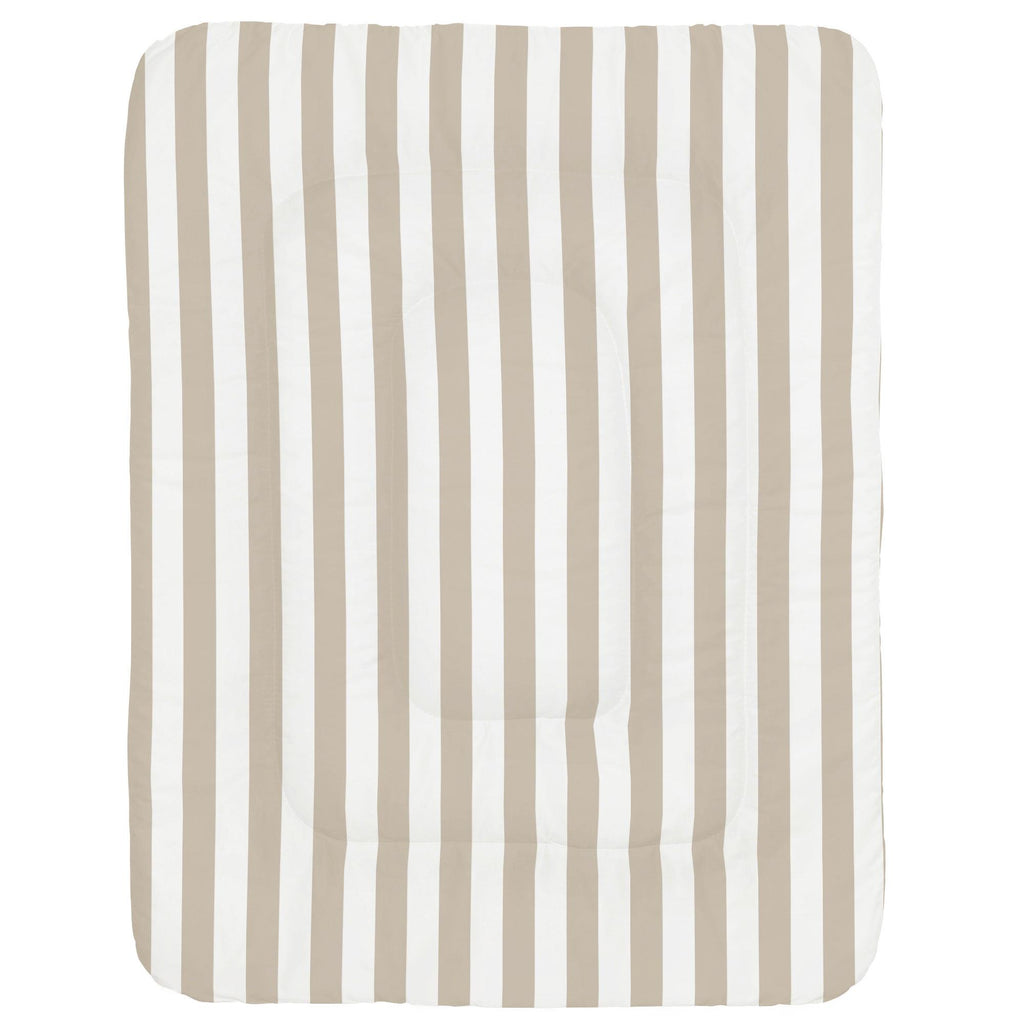 Product image for Taupe Stripe Crib Comforter