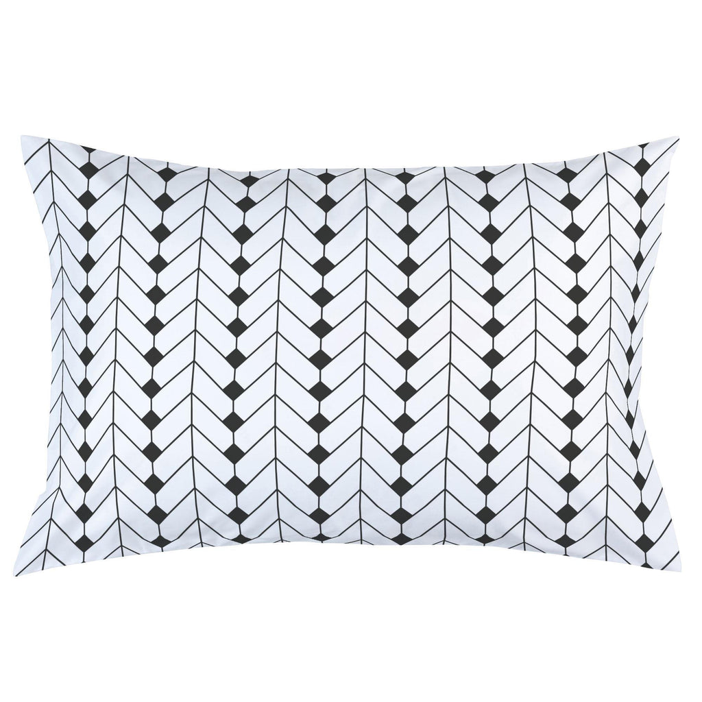 Product image for Charcoal Diamond Herringbone Pillow Case
