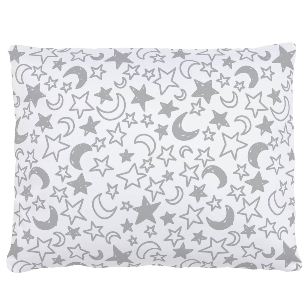 Product image for Silver Gray Moon and Stars Accent Pillow