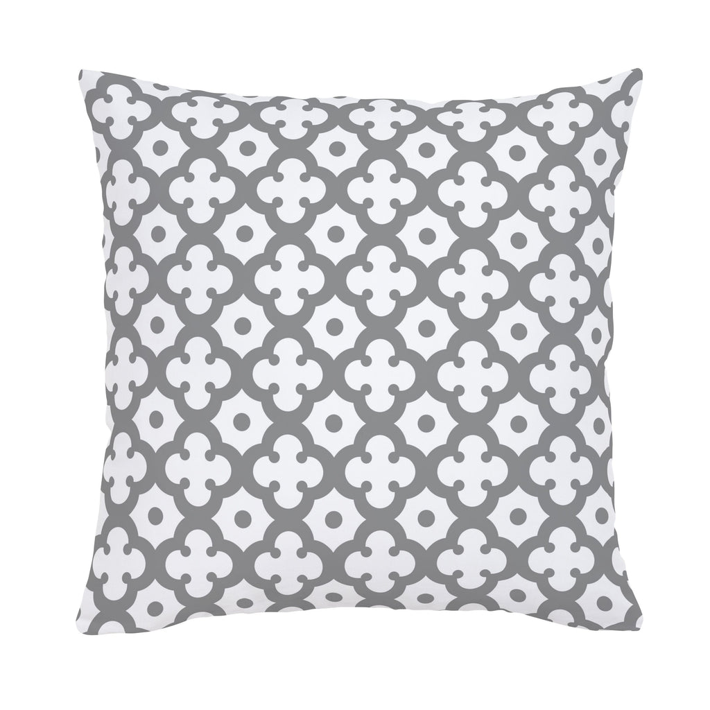 Product image for Cloud Gray Moroccan Tile Throw Pillow
