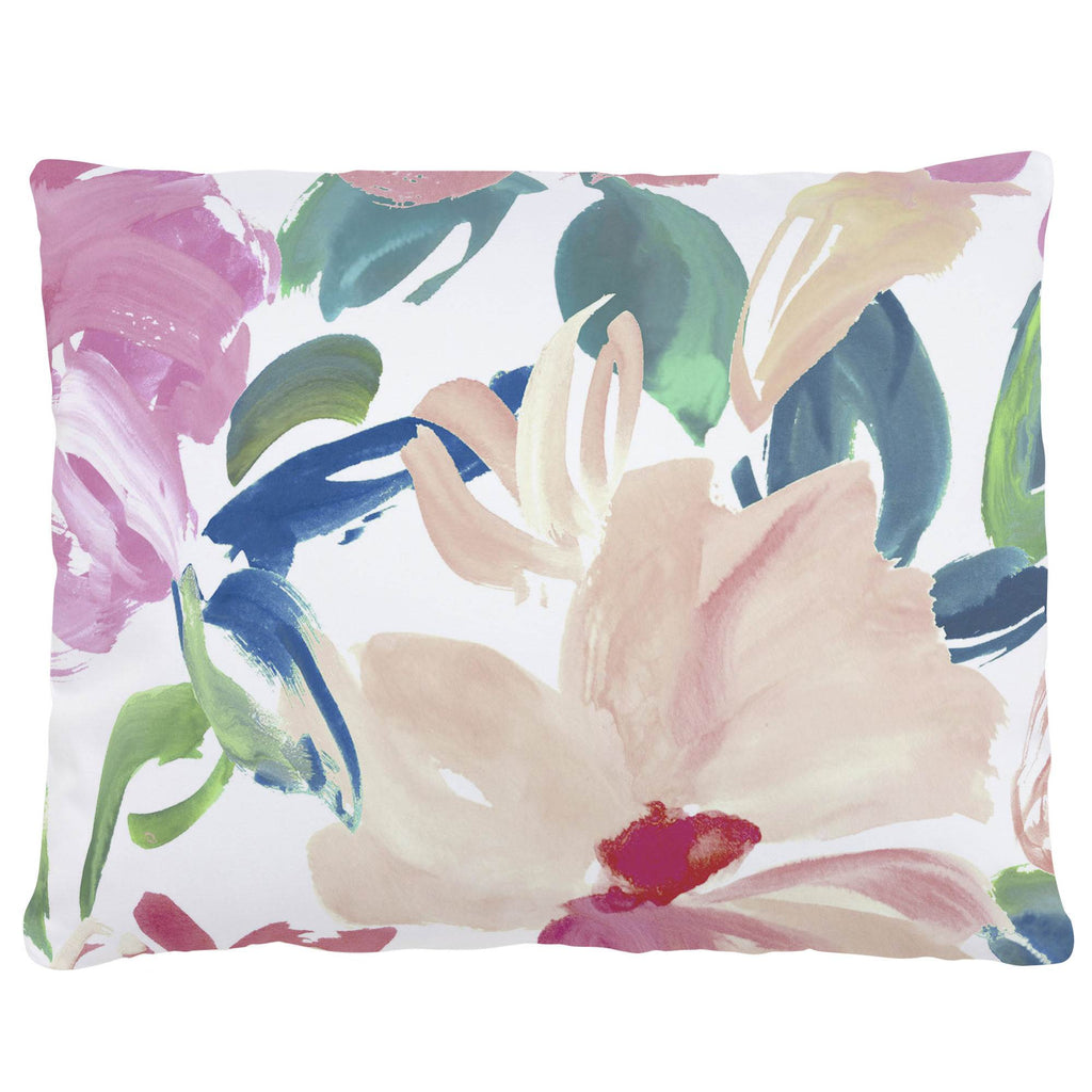 Product image for Pink Brushstroke Floral Accent Pillow